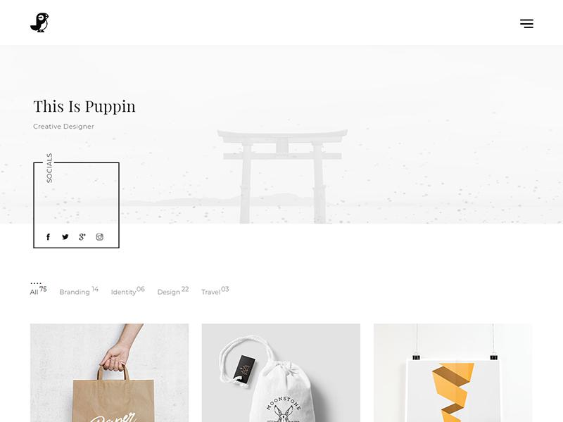 Puppin – HTML5 Portfolio template